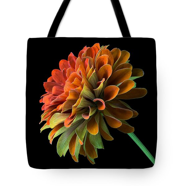 Orange And Green Zinnia  Tote Bag