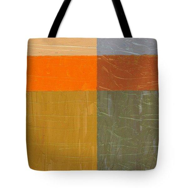 Orange And Grey Tote Bag