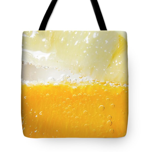 Orange And Lemon In Cocktail Glass Tote Bag