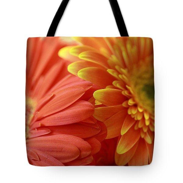 Orange And Yellow Daisies Tote Bag
