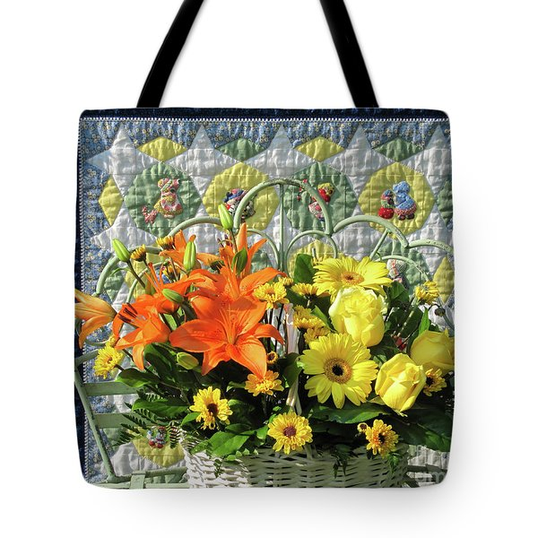 Tote Bag featuring the photograph Orange And Yellow Delights by Nancy Lee Moran