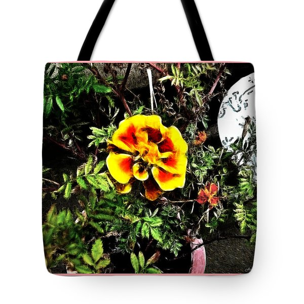 Tote Bag featuring the photograph Orange And Yellow Flower by Joan  Minchak