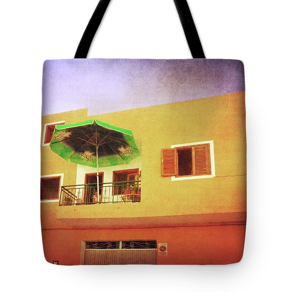 Tote Bag featuring the photograph Orange Apartment, Alcala by Anne Kotan