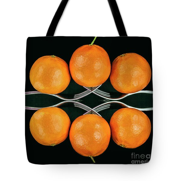 Orange Balance Tote Bag