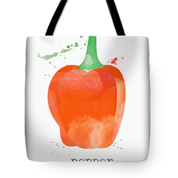 Orange Bell Pepper  Tote Bag
