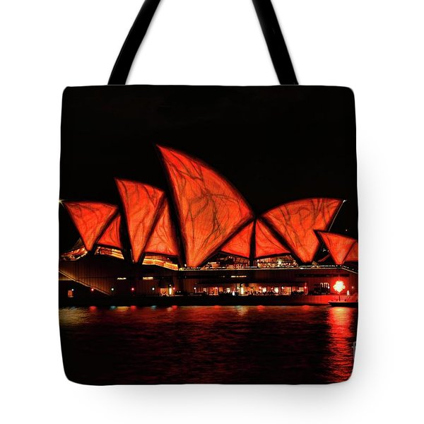 Orange Blast Tote Bag by Diana Mary Sharpton