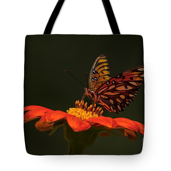 Tote Bag featuring the photograph Orange Bliss by Barbara Bowen
