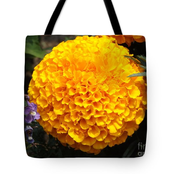 Orange Bloom Tote Bag by Erick Schmidt