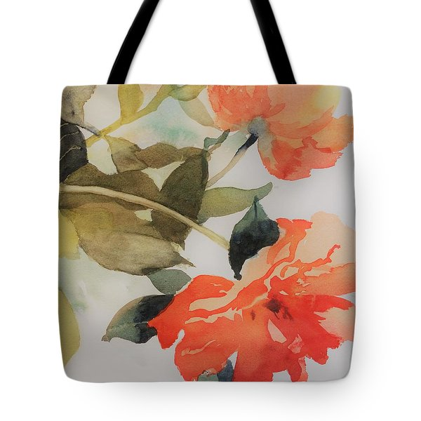 Tote Bag featuring the painting Orange Blossom Special by Elizabeth Carr