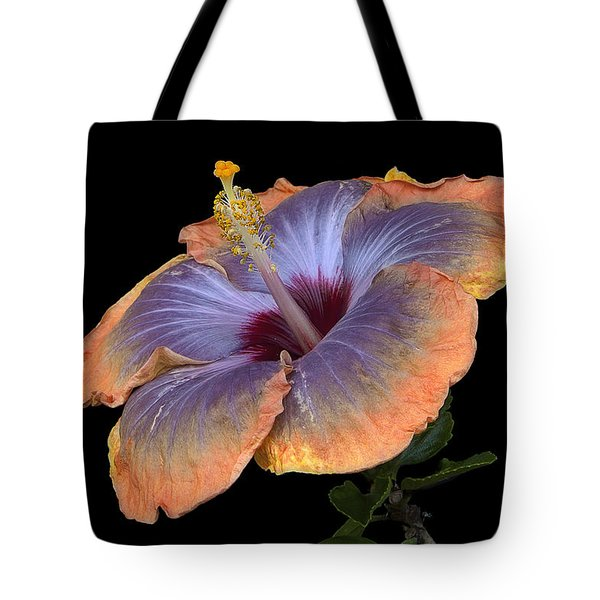 Orange-blue Hibiscus Tote Bag