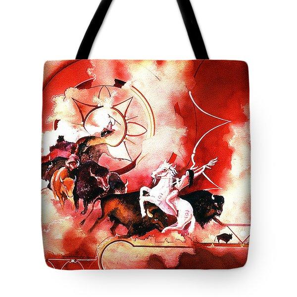 Orange Buffalo Spirit Tote Bag