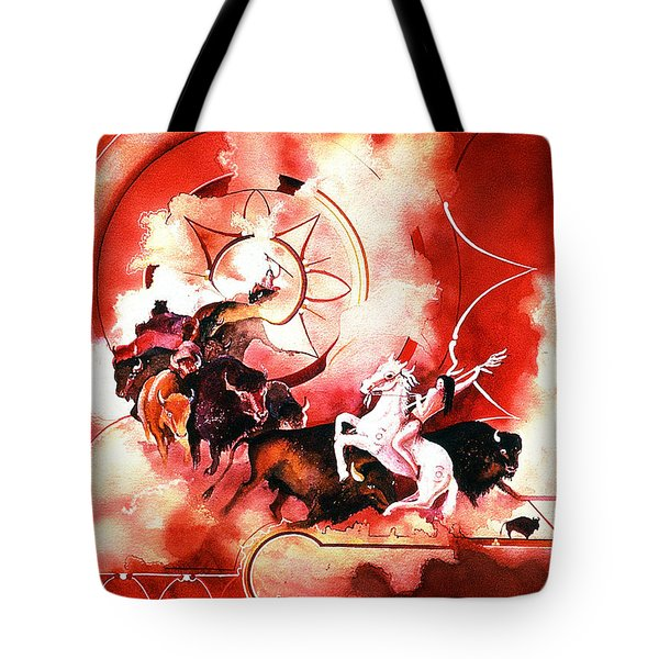 Orange Buffalo Spirit Tote Bag