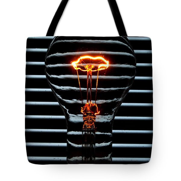 Orange Bulb Tote Bag by Rob Hawkins