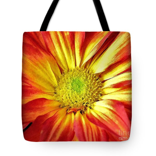 Tote Bag featuring the photograph Orange Burst by Allen Beatty