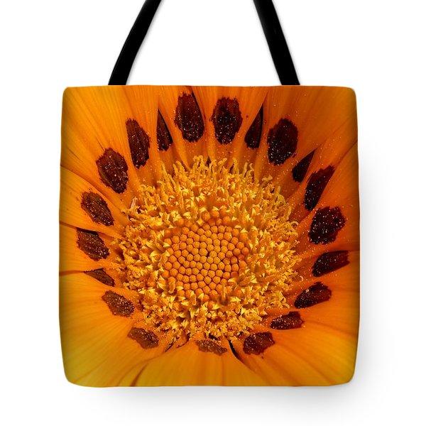 Orange Burst - Daisy Tote Bag