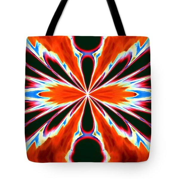 Orange Burst Tote Bag