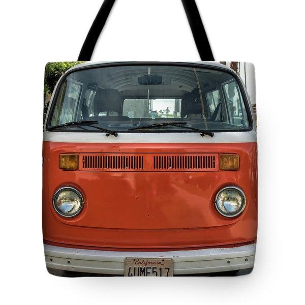 Orange Bus Tote Bag