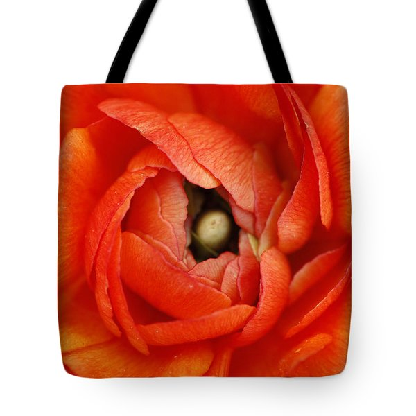 Orange Buttercup Abstract Tote Bag