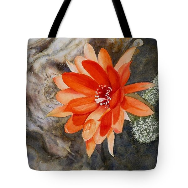 Orange Cactus Flower II Tote Bag