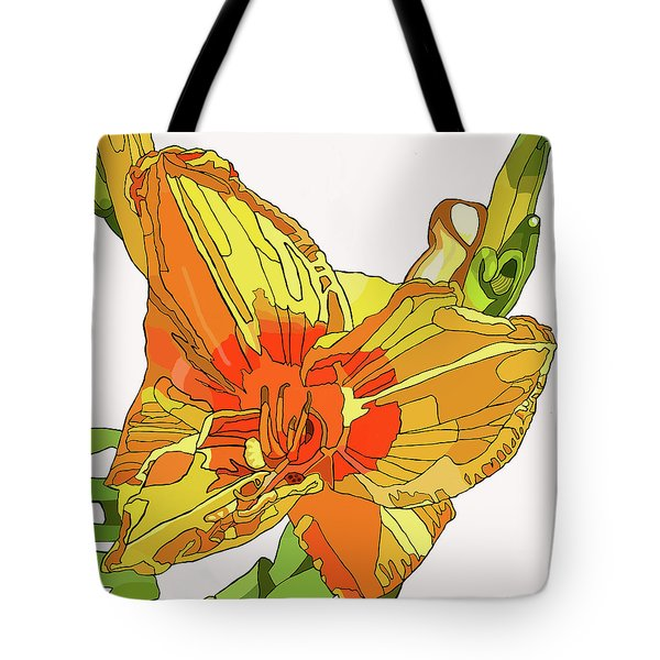 Orange Canna Lily Tote Bag by Jamie Downs
