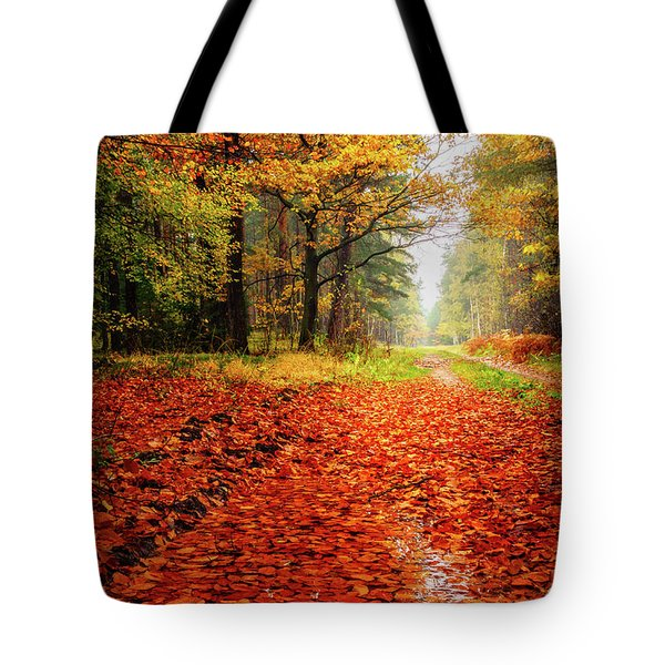 Tote Bag featuring the photograph Orange Carpet by Dmytro Korol