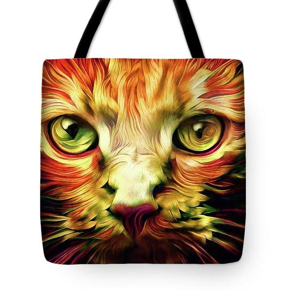 Orange Cat Art - Feed Me Tote Bag