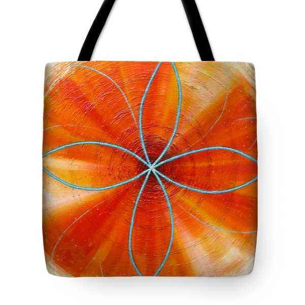 Orange Chakra Tote Bag by Anne Cameron Cutri