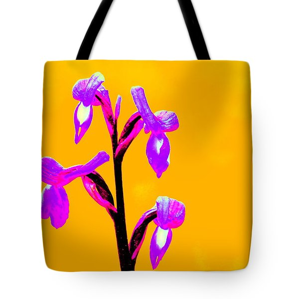 Orange Champagne Orchid Tote Bag