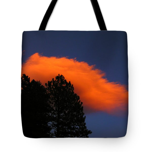 Orange Cloud Tote Bag