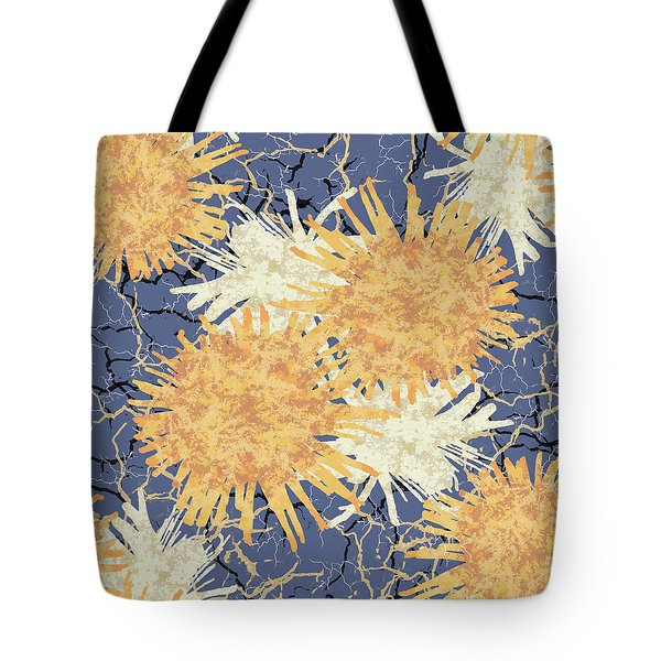 Orange Cobwebs Pattern Tote Bag