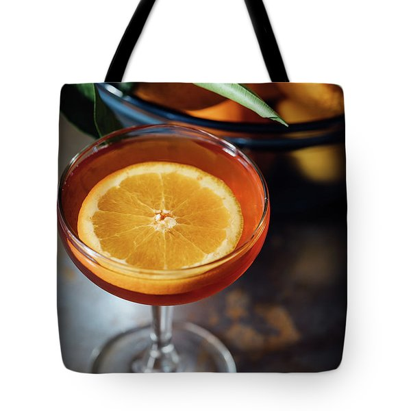 Orange Cocktail Tote Bag