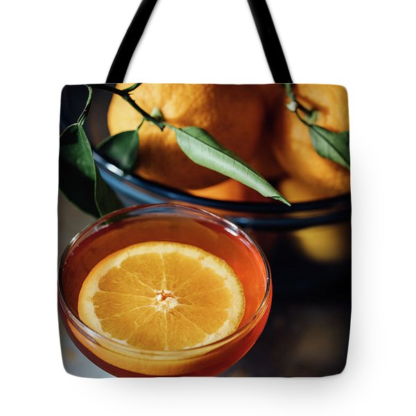 Orange Cocktail Tote Bag by Happy Home Artistry