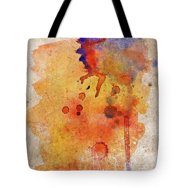 Orange Color Splash Tote Bag