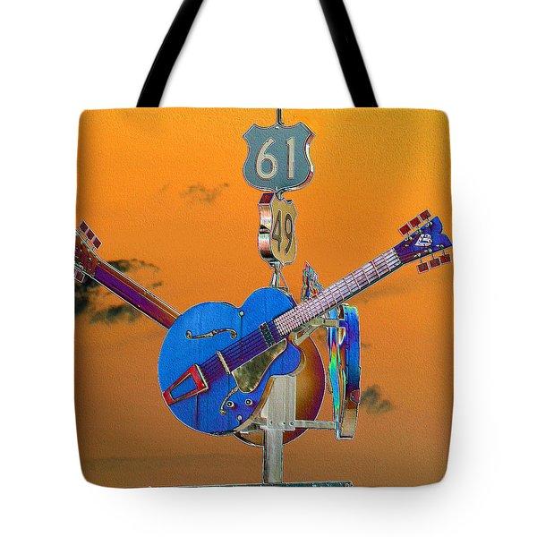 Orange Crossroads Tote Bag