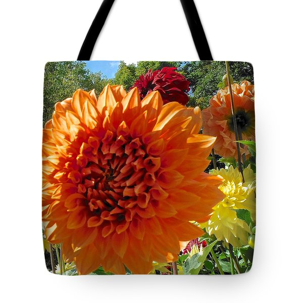 Orange Dahlia Suncrush  Tote Bag