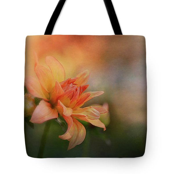 Orange Dahlia Under The Sun Tote Bag