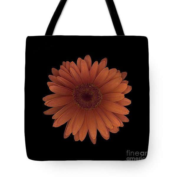 Orange Daisy Front Tote Bag