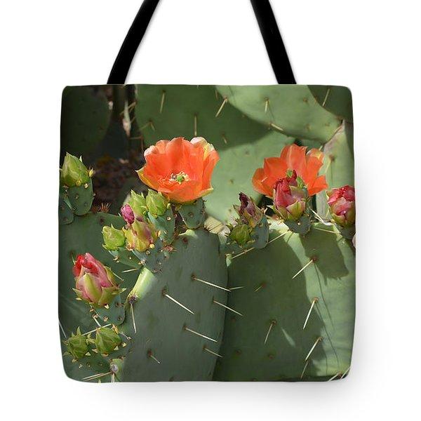 Orange Dream Cactus Tote Bag