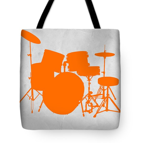 Orange Drum Set Tote Bag by Naxart Studio