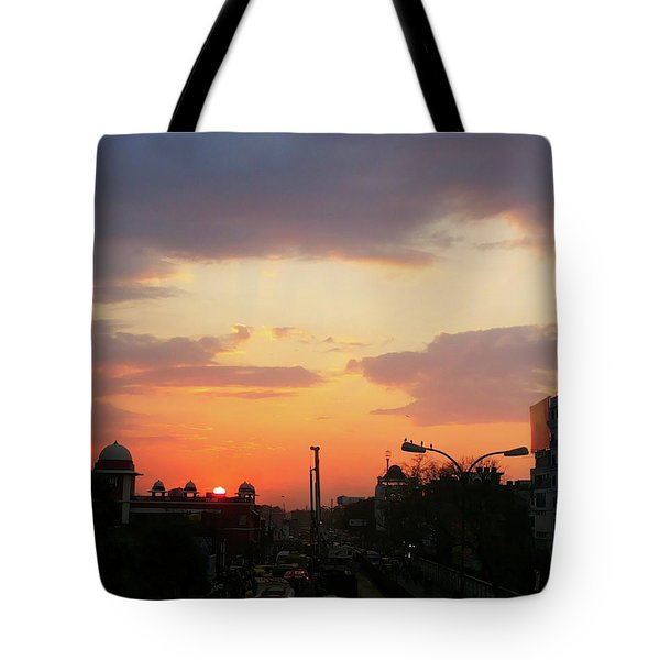 Orange Evening Sky Tote Bag
