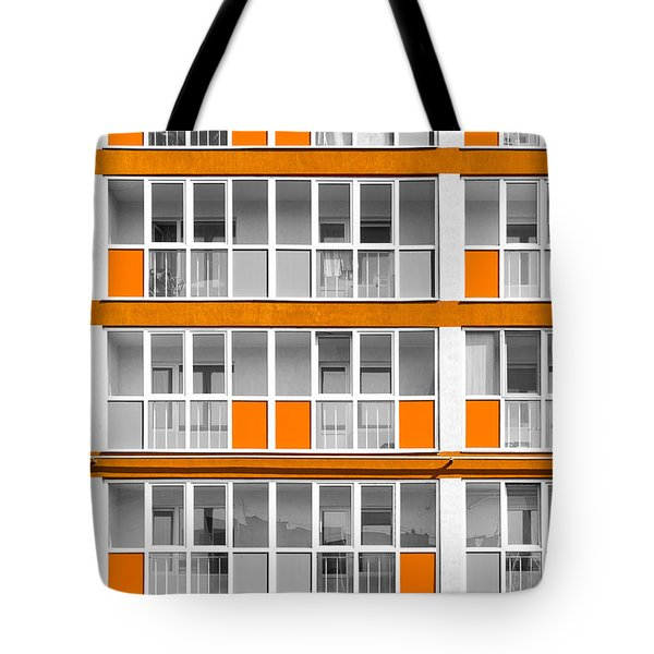 Orange Exterior Decoration Details Of Modern Flats Tote Bag