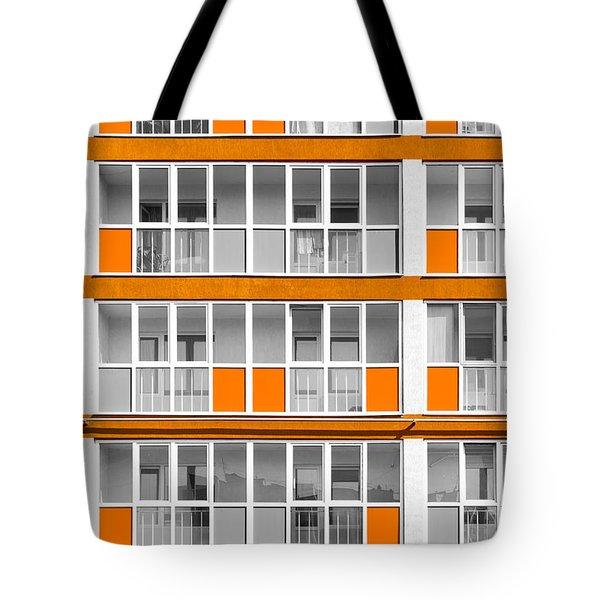 Orange Exterior Decoration Details Of Modern Flats Tote Bag by John Williams