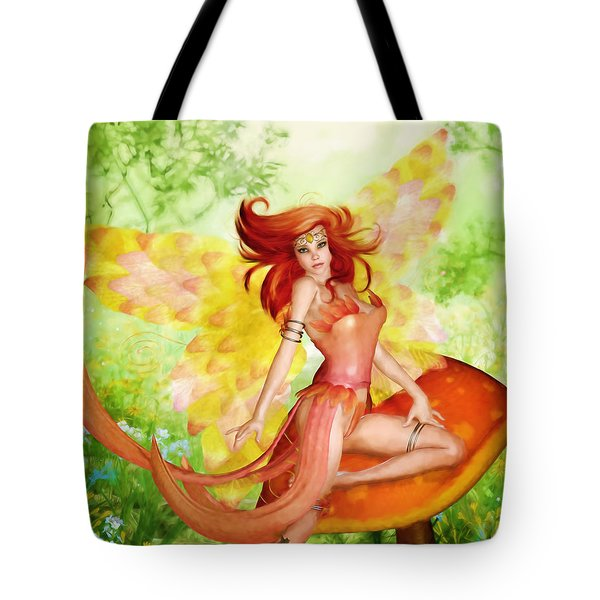 Orange Fairy Tote Bag