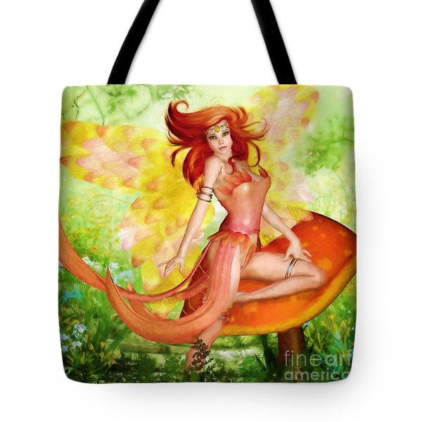 Orange Fairy Tote Bag
