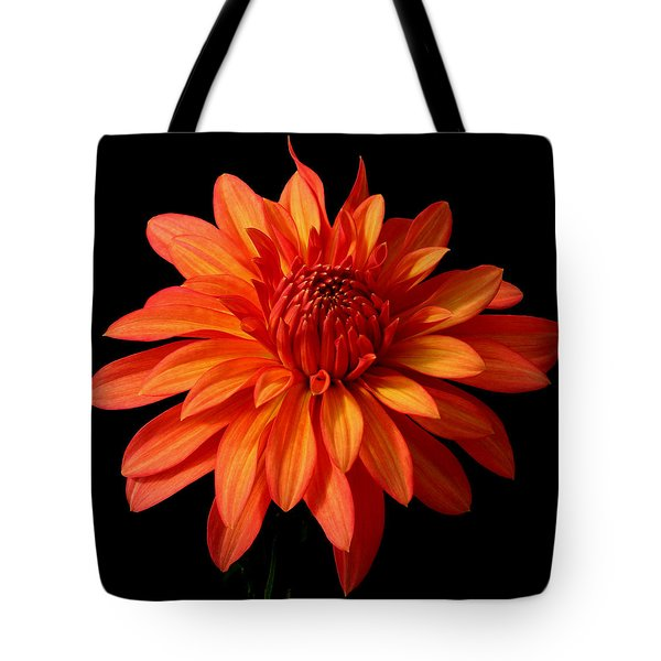 Orange Flame Tote Bag