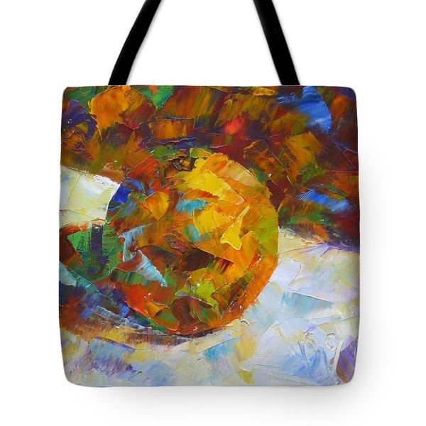 Orange Flash Tote Bag