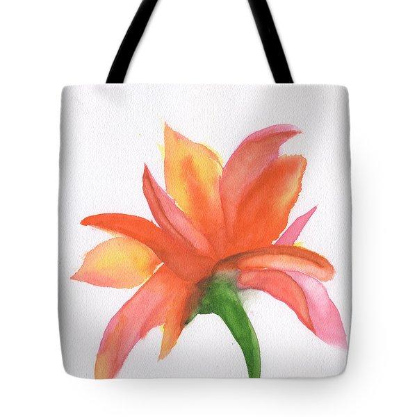 Orange Flower Backside Tote Bag by Frank Bright
