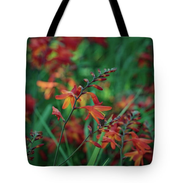 Orange Flowers 8 Tote Bag