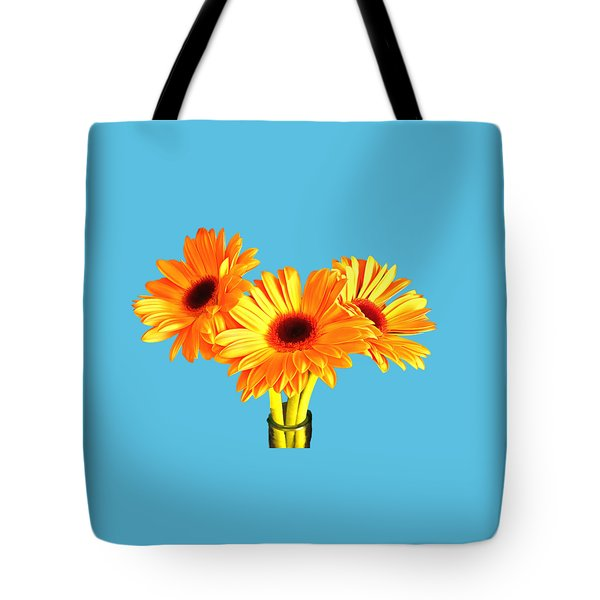 Orange Gerbera's Tote Bag