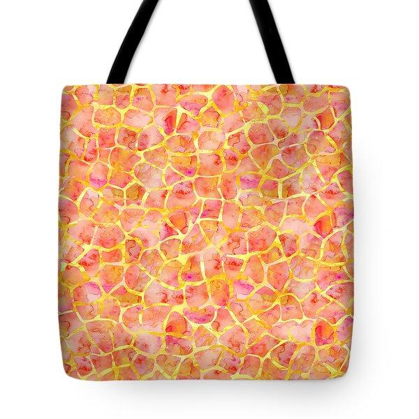 Orange Giraffe Print Tote Bag